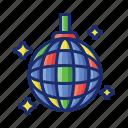 ball, dance, disco icon