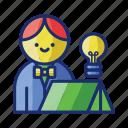 executive, retreat, vacation icon