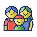 family, kids, parents icon