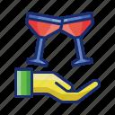 drinks, event, glass, wine