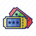 coupon, pass, tickets icon