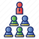 group, hierarchy, team icon