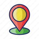 location, pin, point icon