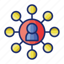 communication, event, networking icon
