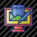 invitation, online, rsvp