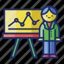 analytics, presentation, seminar, statistics icon
