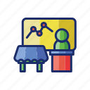 podium, show, trade icon