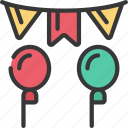 party, balloons, bunting icon