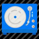 turntable, vinyl, recorder, player, music