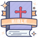 bible, christainity book, essential book, good book, guide book, holy book, religion book icon