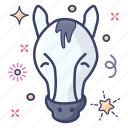 creature, foal, horse, horse face, pony, wild horse icon