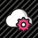 cloud, gear, setting icon