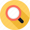 find, glass, look, magnifying, search, zoom icon