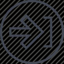 arrow, forward, go, next, pointer icon
