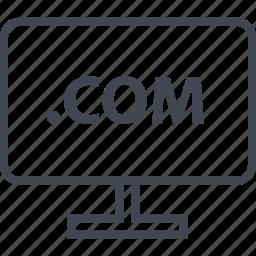 com, extension, monitor, pc, web icon
