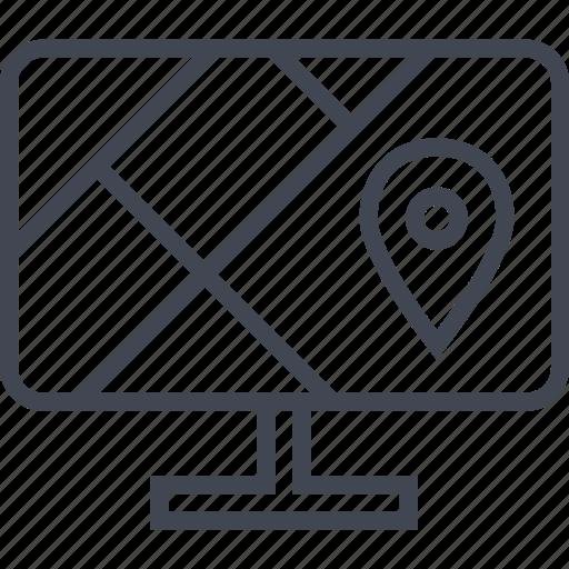 gps, locate, monitor, pc, pin icon
