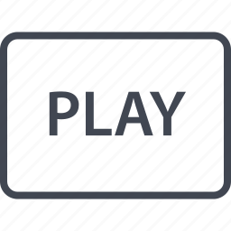 online, play, tube, video, web icon