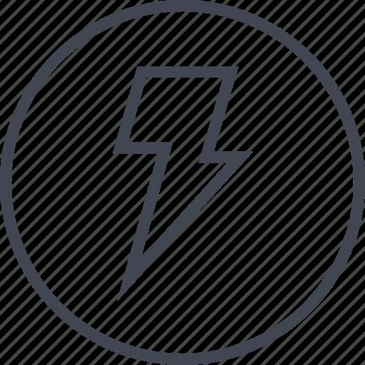 fast, light, lightning, power, speed icon