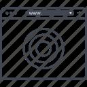 browser, find, internet, look, online, target, web icon