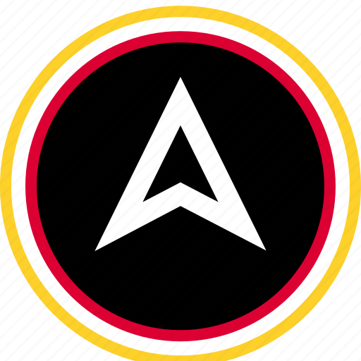 arrow, direction, gps icon