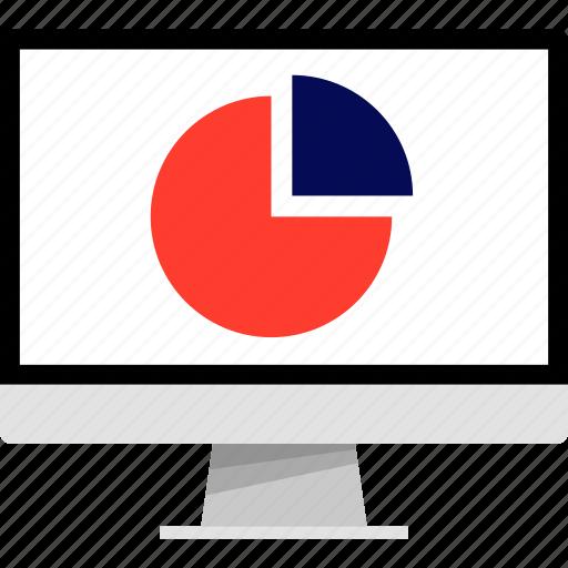 chart, computer, graph, mac, pc, pie, report icon
