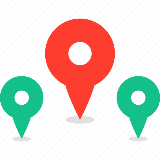 google, gps, location, map, pin icon