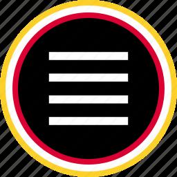 lines, settings, setup icon