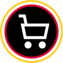 add, check, out, shop icon