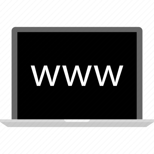 laptop, online, visit, website, www icon