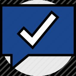 check, everyday, mark, notification, online, options, random icon