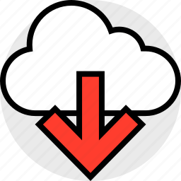 cloud, down, everyday, online, options, random icon