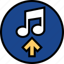 everyday, music, online, options, random, upload icon