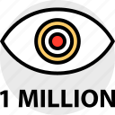everyday, million, one, online, options, random, views icon