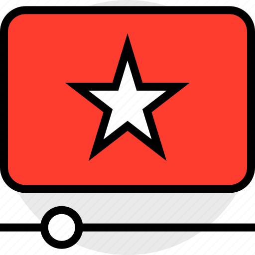 everyday, online, options, random, star, video icon