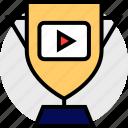 everyday, online, options, random, trophy, video icon