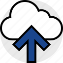 cloud, everyday, online, options, random, up icon