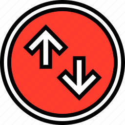 down, everyday, online, options, random, up icon