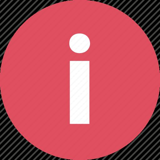 i, info, information, online icon