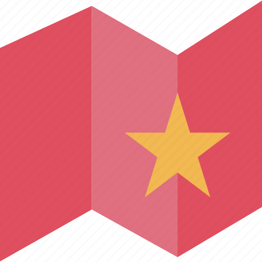 business, map, online, star icon