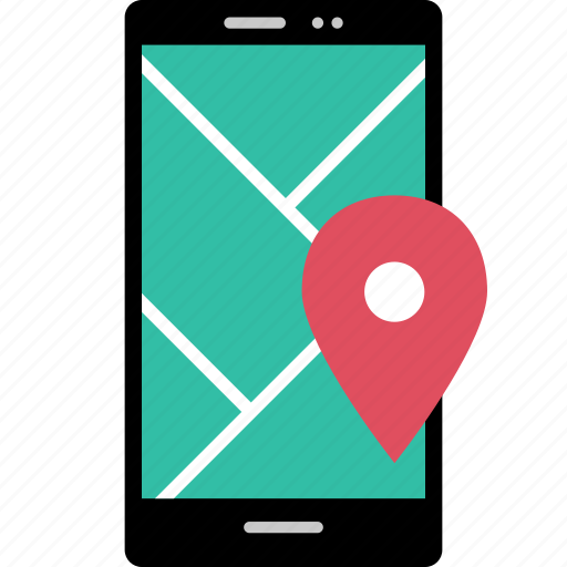 cell, gps, online, phone icon