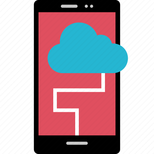 cell, cloud, online, phone icon