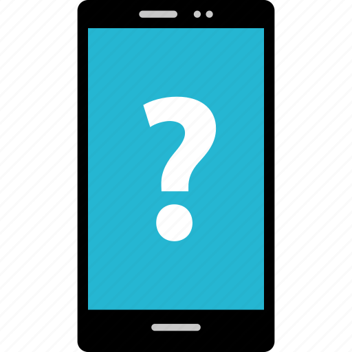ask, cell, mark, question, sign icon