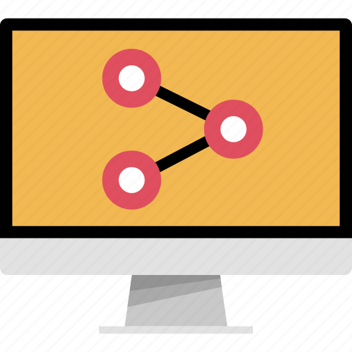 computer, connection, data, pc, share icon