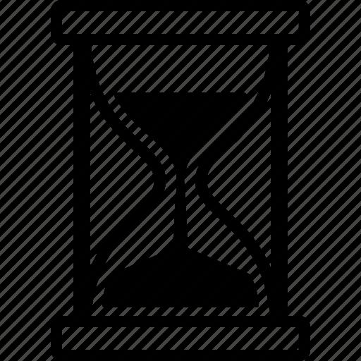 glass, handle, hour, hourglass, sand, sandglass, timer icon