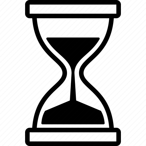 clock, glass, hour, hourglass, sand, sandglass, timer icon