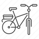 bicycle, bike, cargo bike, cycling, transport icon