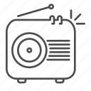 broadcast, music, music player, radio, vintage radio icon