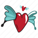 angel, heart, love, network, social, valentine icon