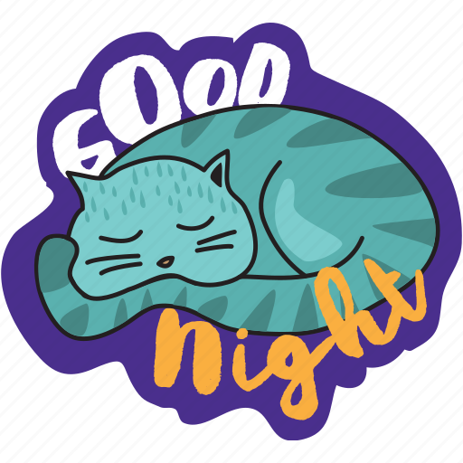 Cat, good night, network, sleep, social icon - Download on Iconfinder