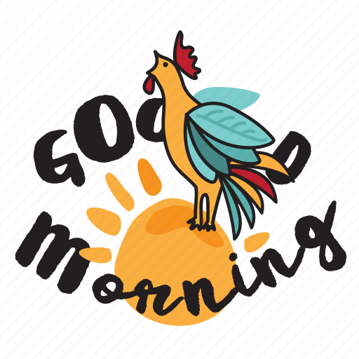 Dawn, good morning, network, rooster, social, sun icon - Download on Iconfinder